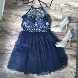 Short Prom/Homecoming Halter Dress